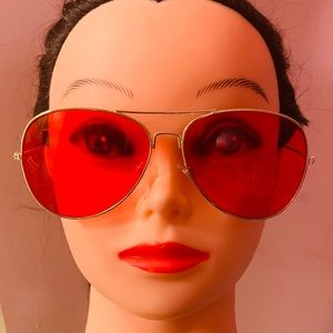 Accessories - Red and gold sunglasses